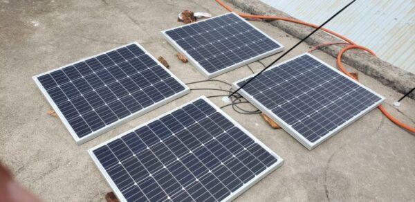 太陽光発電、ソーラーパネル仮設