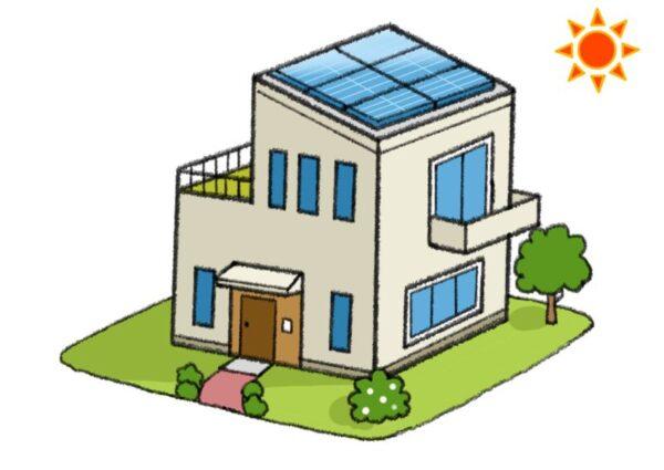 太陽光発電を設置した家(アニメ)