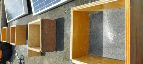 平屋穴あけ完了防水塗料塗った後