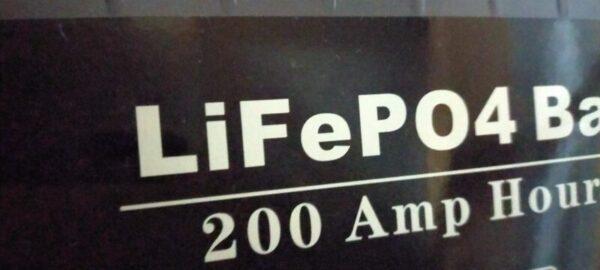 LiFePO4バッテリー200Ah