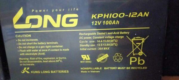 LONG12V100Ahシールドバッテリー