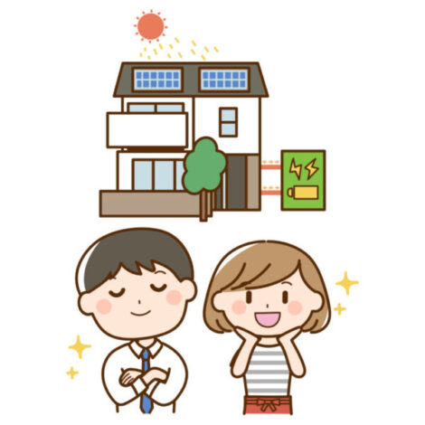 太陽光発電を業者に設置してもらったアニメーション画像