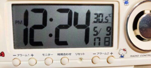 5月沖縄の室内温度30.5℃
