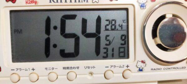 エアコン使用1時間半経過28.4℃