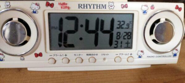 室内温度32.9℃