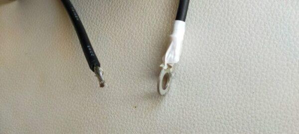 昭和電線3.5SQ 丸形端子 加工