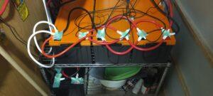 リン酸鉄リチウムイオンバッテリー200Ah×4台
