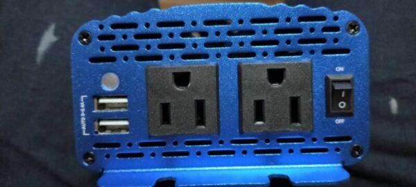 BESTEK 500W 正弦波インバーター コンセント2つ