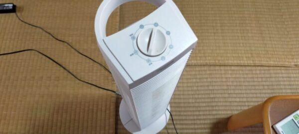 扇風機をソーラー発電つき蓄電池を使って長時間動かす