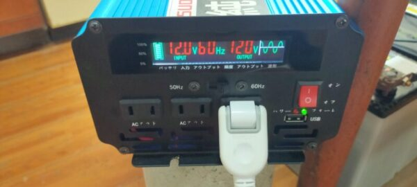 家電を長い時間動かすために必要な正弦波インバーターの電圧12.0v安定している