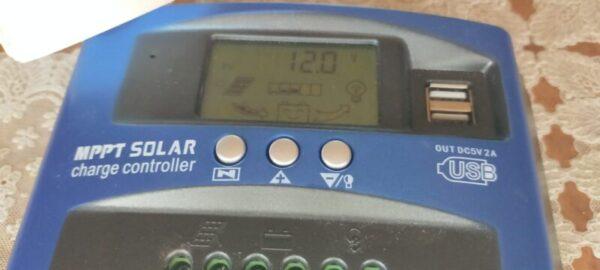 ソーラー発電の終了!mpptチャージコントローラーも発電していない12.0v