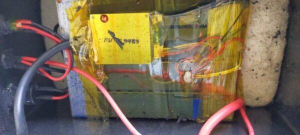 リン酸鉄リチウムイオンバッテリーを開封して内部を確認