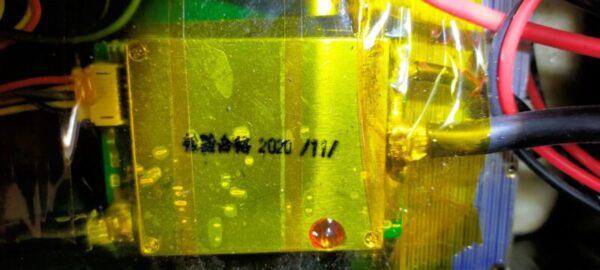 リン酸鉄リチウムイオンバッテリー開封してみた結果!BMSに焼けた跡も無い、セルも横向き配置だけど異常は感じない